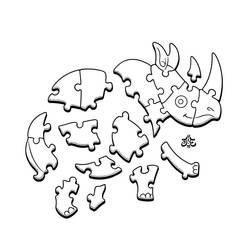 24th of Rhinoary: Jigsaw Puzzle by einen