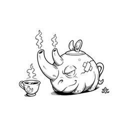 25th of Rhinoary: Tea by einen