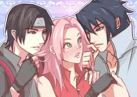 Naruto: Sai, Sakura, Sasuke by CT05
