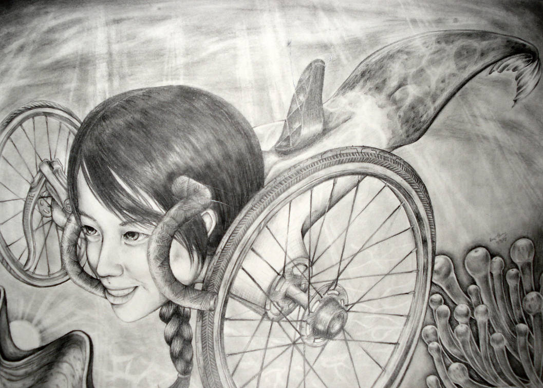Risd Bicycle Drawing By Poohp00hbear On Deviantart