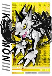 Digimon Hyper Virus - Kahumon Jintrix Card by BabydollStarCatcher