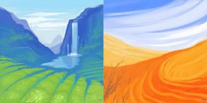 landscapes sketches by SHADE-ShyPervert