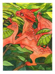 Watercolor dragon by SHADE-ShyPervert