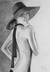 Madame in hat by margaret-art