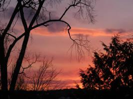 dec 16th sunset 2 by BlueIvyViolet