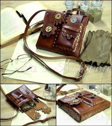 Steampunk Leather Pouch VII by izasartshop