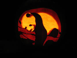Panda Pumpkin Carving by Armuri