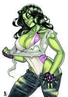 She-Hulk color by RamArtwork