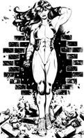 She-Hulk 2 ink by RamArtwork