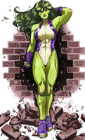She-Hulk 2 color  by RamArtwork