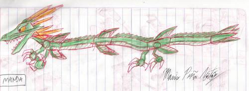 Godzilla: TKA - Manda by MarioStrikerMurphy