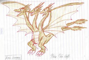 Godzilla: TKA - King Ghidorah by MarioStrikerMurphy