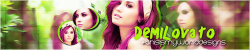 Banner Demi Lovato 001 by ThisIsMyWorldDesigns