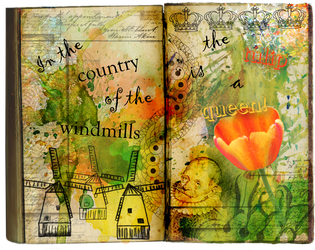 Tulip mania in the country of the windmills by Leina1