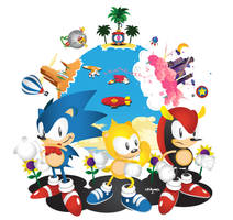 Sonic The Screensaver-Sonic Mania Plus by Linkabel32
