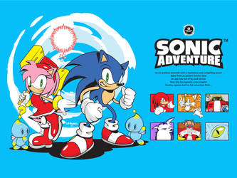Sonic Adventure 20th anniversary by Linkabel32