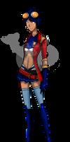 Female Rex Salazar by DesertDraggon