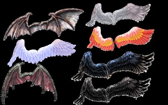 Ginjishi Wings DL LINK by DesertDraggon
