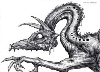 Drako Dark Syde: Dragon of Dismay... by MoodDisorder