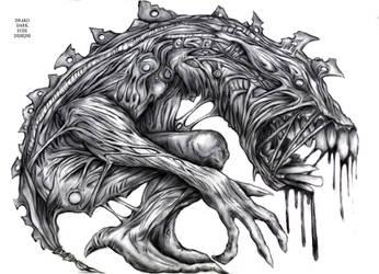 Drako Dark Syde: BioMechanical Abomination... by MoodDisorder