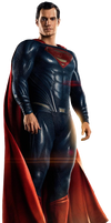 Justice Leagues Superman - Transparent Background! by Camo-Flauge