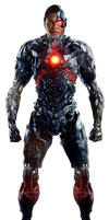 J.L: Cyborg (Full Body) - Transparent Background! by Camo-Flauge