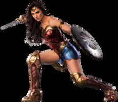 Wonder Woman: Warrior Pose - Transparent! by Camo-Flauge