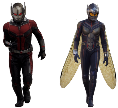 Ant-Man and the Wasp - Transparent! by Camo-Flauge