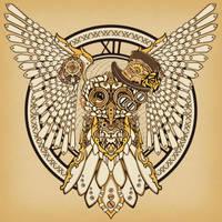 Steampunk Owl by KenshinPony