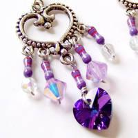 Computer Resistor and Purple Heart Earrings by Techcycle