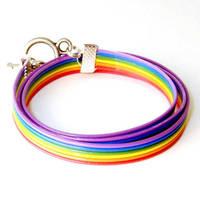 Rainbow Computer Cable Wrap Bracele by Techcycle
