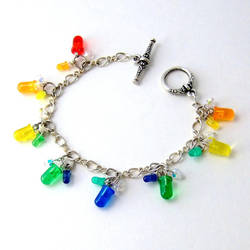 Rainbow LED and Crystal Cluster Bracelet by Techcycle