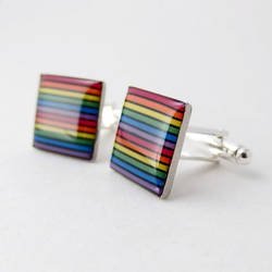 Domed Rainbow Cufflinks by Techcycle