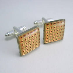 Prototyping Circuit Board Cufflinks by Techcycle