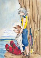 Riku and Sora by mateem