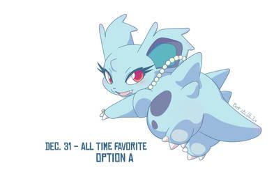 Dec 31 (Option A) - Nidorina by BuzzkillBluefish