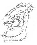 Gryphon Bust by AutumBlackSnow