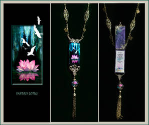 Fantasy Lotus Necklace by ForeverCreative