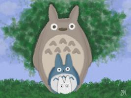 Totoro, Totoro by Aerie-Faerie