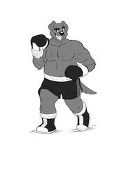 Boxing Dog by Drawing-4Ever by SuperAbachiBro