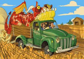 Dragon on a truck... by mendigo-amigo