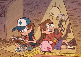Dipper and Mabel by mendigo-amigo