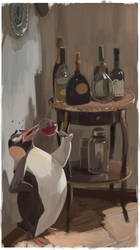Drink Penguin by mendigo-amigo