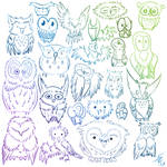 Owls four ever by silver-phoenix103