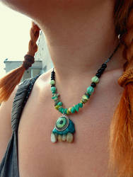 Toothy necklace by Acorny-Creatures