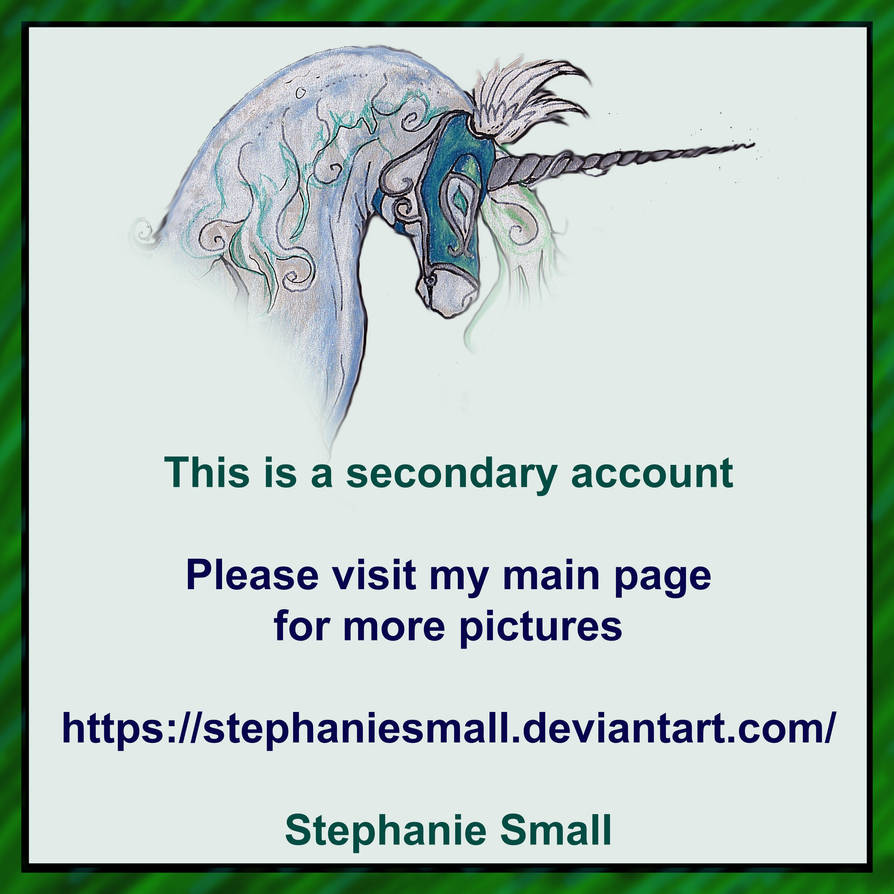 Please Visit My Main Account by pegacorna