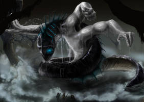 Water Colossus by liliwen