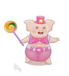 Chibi pig by oleolah