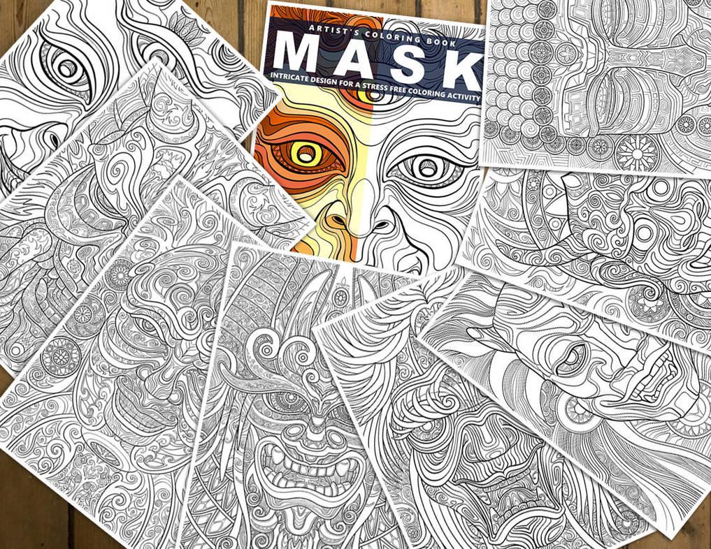 Mask - Artist's Coloring Artbook by oleolah