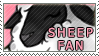 Stamp Sheep Fan by Stelleia